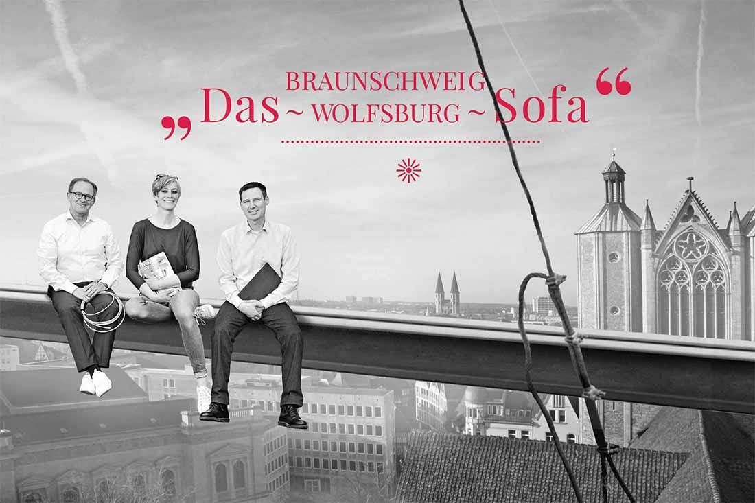 Das Braunschweig Wolfsburg Sofa   STADTGLANZ